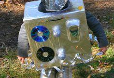 HOW TO: Make a DIY Cardboard Box Robot Halloween Costume