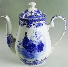 The Rustic Victorian:  Blue Rooster China Pattern.   I want this so bad I have not seen one before...