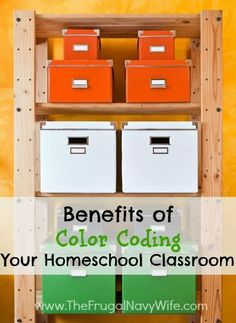 Benefits of Color Coding Your Homeschool Classroom - The tricks that will save you time and money!