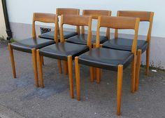 Set of Four or Six 1960s Scandinavian Nils Moller by EraBrighton
