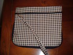 Audreys  Black Checkerd Pansy Wristlet Pocket by TattooedTextiles, $20.00
