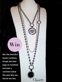 Giveaway: Stunning Quoins Necklace