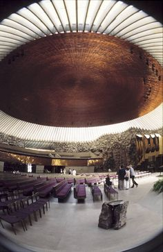 Temppeliaukio church, Helsinki. Not really a townscape but one of the most impressive indoor environments I have ever been in.