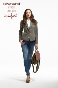 burberry london outlet online 4rd0  The Tobias One Button Blazer in Brown Mavi Alexa Skinny Jeans in Mid  Vintage