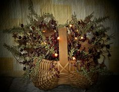 Rose Hip Basket with lights
