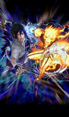 Title Screen (New official art from Naruto Blazing game) Naruto Shippuden Sasuke, Naruto Kakashi, Anime Naruto, Naruto Vs Sasuke Final, Naruto Fan Art, Naruto Cute, Naruto And Sasuke Wallpaper, Wallpaper Naruto Shippuden, Kurama Susanoo