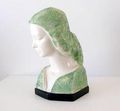 Mid Century Art Sculpture of Woman V Glinsky Cast by retrogroovie