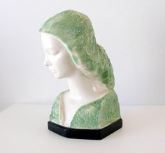 Mid Century Art Sculpture of Woman V. Glinsky Cast by retrogroovie,