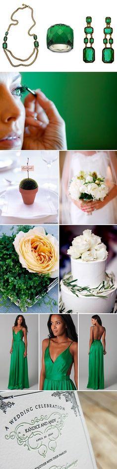 green wedding idea ... Repin by Inweddingdress.com  #indressweddingidea #weddingidea #greenwedding #greenweddingdress