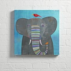 Shop Elephant Colorful Wall Art. Take a gander at our Elephant Wall Art. It features your little one's favorite oversized friend strolling in the wild. Designed exclusively for us by Melanie Mikecz.