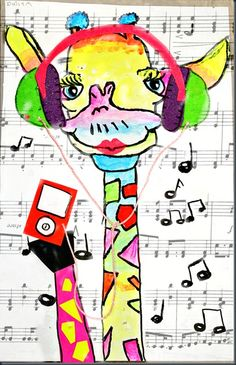 Rock'n Neon Tigers  http://elementaryartfun.blogspot.com/search/label/Rockin%20Neon%20Tigers#