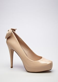 classic nude pump but with a bow! nice little touch
