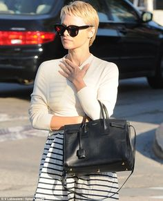 A present day Audry Hepburn, Is that really you? Pamela Anderson stepped out in Los Angeles on Friday showing off a short blonde hairstyle