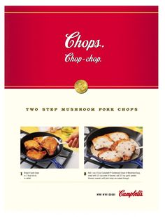 Campbells BBDO Mushroom Pork Chops, Cream Soup, Stuffed Mushrooms, Ads, Canning, Stuff Mushrooms, Conservation