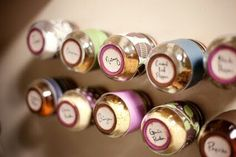 Especieros con frascos de gerber