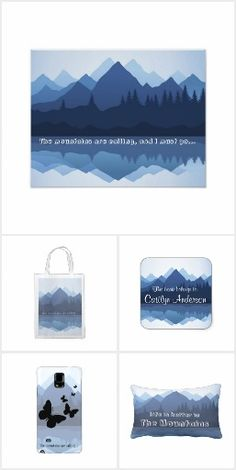 Mountains Collection Pillows, Bags, Phone Cases and more.  Personalzie.  Designed by Sjasis.