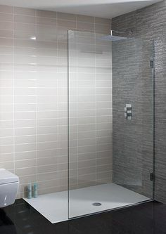 Ensuite - walkin shower TEN Single Fixed Panel in Ten Shower Panels, Shower Cubicles, Glass Shower, Bathroom Layout, Modern Bathroom, Luxury Shower, Luxury Bathroom, Bathroom Design, Bathroom Shower Panels
