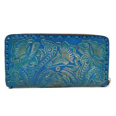 Women's Wallet, Large, For Cards, Leather Wallet, Boho , Turquoise wallet, Handmade , Hand Tooled Leather, Bohemian, Gift for Her by aymxleather on Etsy Leather Tooling, Cow Leather, Cowhide Leather, Leather Wallet, Handmade Wallets, Large Wallet, Wallets For Women Leather, Leather Design, Looking For Women