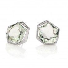940674a5a4b Brinco de Ouro Branco com Diamantes e Green Gold