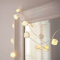 20er LED Rosen Lichterkette warmweiß