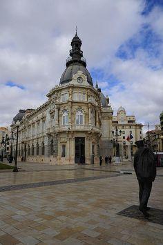 Palacio Consistorial by JaviCarrasco, via Flickr. Cartagena (Murcia) Metal Facade, Neoclassical Architecture, Spain Travel, Homeland, Frocks, Baroque, Cities, Journey, Sculpture