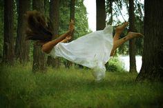 art, fine art, conceptual, surreal, photography, woman, girl, levitaiton, floating, white, gown, damsel, libra, rising, greem forest, ehp, elle hanley photography, ellehanley.com