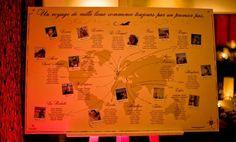 plan de table original, cadre sur chevalet, thème sur les voyages Fanny Dion www.mariagedanslair.fr