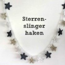 Project Huisvrouw - sterren slinger haken || crochet star bunting