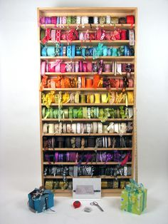 ~Wouldn't we all love to have this in our studios? May Arts Ribbon Rack
