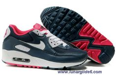 Nike Air Max 90 Monsoon Blue White Aster Pink Black Womens Shoes Sale