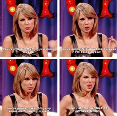 She is you when you're totally done with people telling you how to act. | 26 Times Taylor Swift Was Actually You IRL