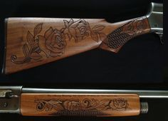 wood gun stock carving patterns | Gunstock Carvings by Joe Cummings