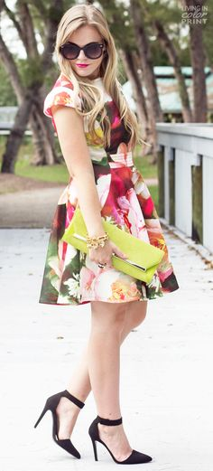 Rose Print Dress + win a $500 shopping spree to Ted Baker