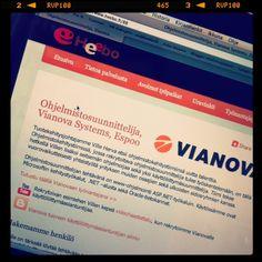 #ohjelmistosuunnittelija #Vianova