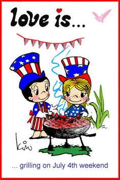 love is… grilling on July 4th Weekend,   Happy 4th of July, fourth of July, Independence Day, july 4th Barbecue, BBO