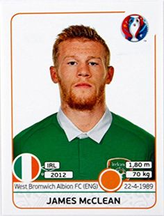 Image result for mcclean panini euro2016 West Bromwich Albion Fc, Baseball Cards, Sports, Image, Hs Sports, Sport