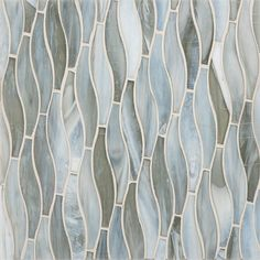 Vihara Collection - made with post-consumer glass, each tile is handmade of twisted tones, textures and hues that come together as one singularly beautiful mosaic. Glass Tile Bathroom, Blue Glass Tile, Bathroom Tile Designs, Bathroom Ideas, Hall Bathroom, Master Bathroom, Diy Kitchen Cupboards, Kitchen Tiles, Tile Countertops