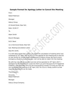 Restaurant complaint letter did you recently have a bad experience frame a formal meeting cancellation notice use the format sample for apology letter for meeting spiritdancerdesigns