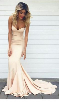 Long Prom Dresses,Mermaid Evening Dress,Sexy Backless Sweetheart Prom
