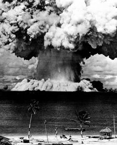 Atomic Bomb Testing in the French Polynesian Islands.