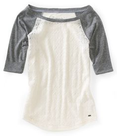 Lace Baseball Crew Tee. love