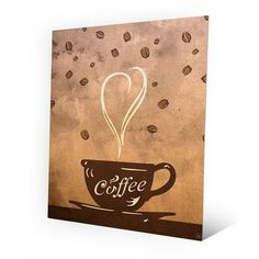 "Click Wall Art Metal Cup of Coffee Painting Print on Plaque Size: 30"" H x 20"" W x 0.04"" D"