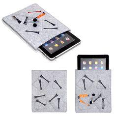 iPad Sleeve with pockets on it felt bag 2087 designed
