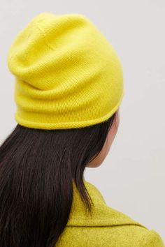 4b5ee07c355 Cos CASHMERE HAT Yellow Hats