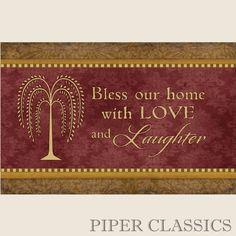 Bless Our Home Floor Mat #countryhomedecor #homedecor
