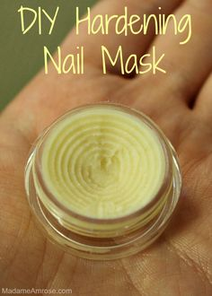 DIY: Nails Hardening Mask - made with shea butter, coconut butter, wild orange and eucalyptus essential oils