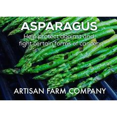 Backyard Benefits Series I: Grow asparagus, to help fight, and prevent #cancer. Let Artisan Farm Company help you. Sign up for our email list, or give us a buzz. www.artisanfarmcompany.com :ghost: ArtisanFarmCo -------------------------------------- :thum