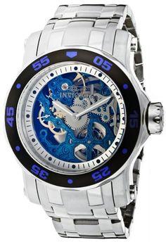 Invicta 10306 Pro Diver Blue Mechanical Skeleton Watch For Men