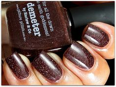 I usually hate brown, but I love this tone!    piCture pOlish Demeter