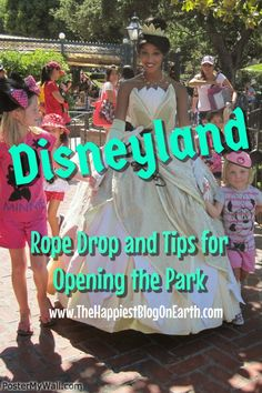 Tips for Opening Disneyland, the official rope drop and more.